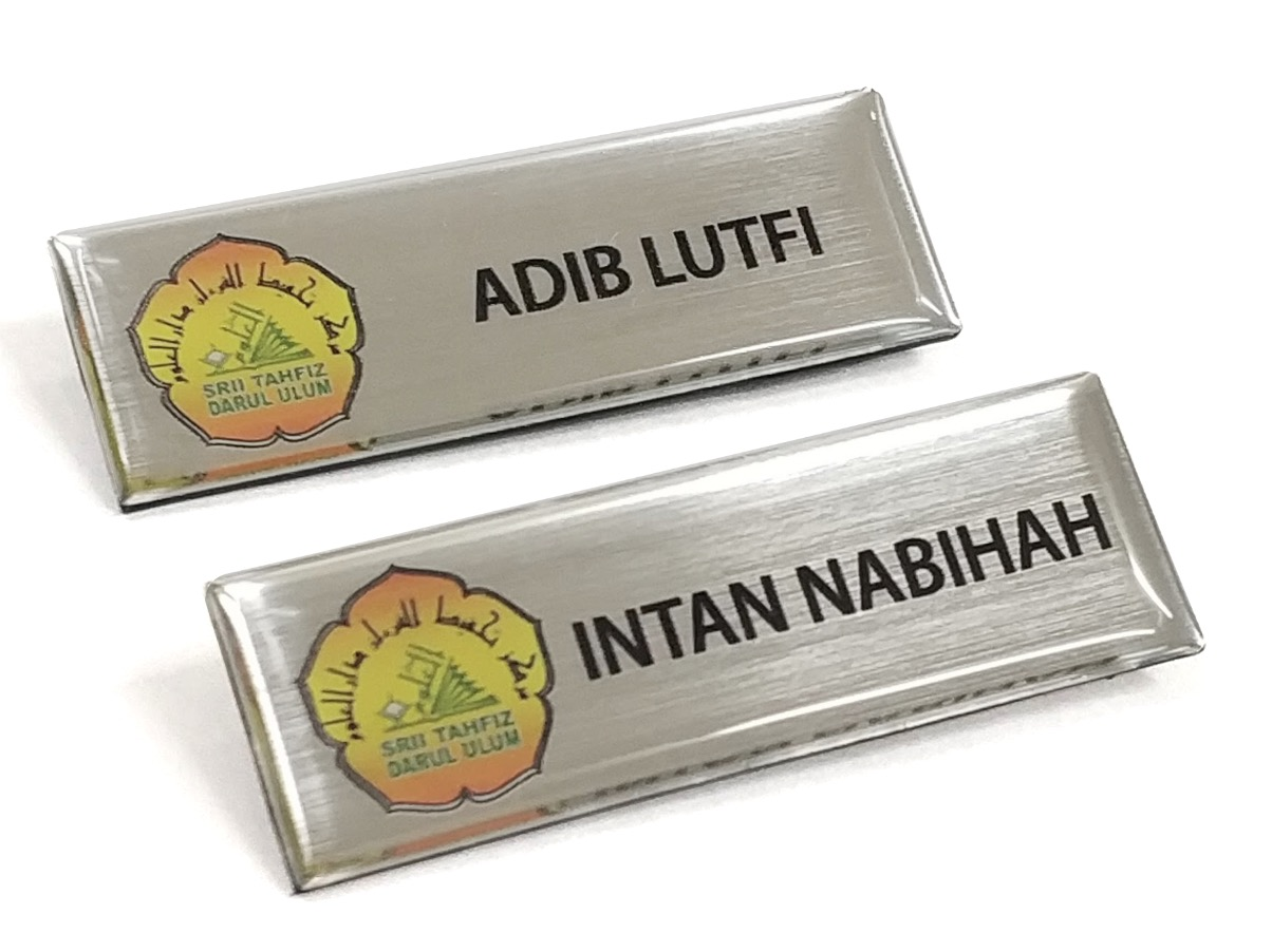 Epoxy Name Tag- Silver Base (25x74mm)