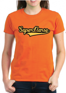 Super Nurse Tee 7- Orange
