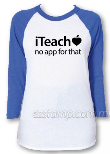 Blue raglan - TT01 iteach tees for teacher