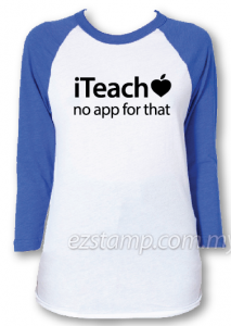 Blue raglan - TT01 iteach tees for teacher